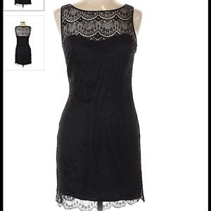 Armani Exchange black lace dress